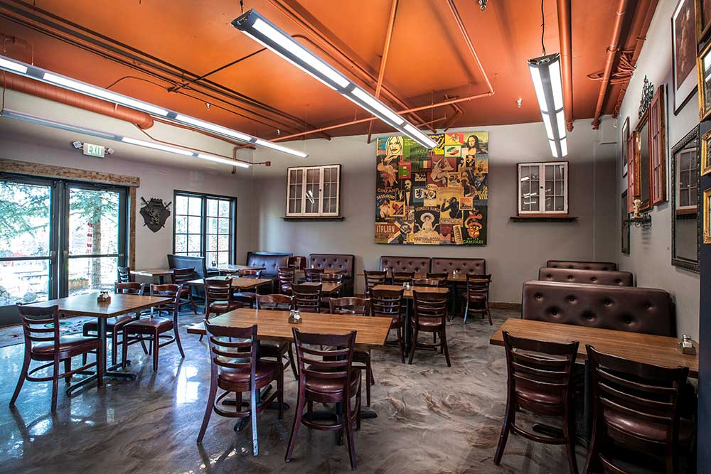 Enzas Dining Room Rear Entrance
